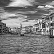 The Grand Canal Bw Art Print