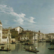 The Grand Canal In Venice From Palazzo Flangini To Campo San Marcuola Art Print