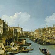 The Grand Canal Near The Rialto Bridge. Venice Art Print