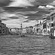The Grand Canal - Paint Bw Art Print