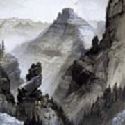 The Grand Canyon Drawing            Art Print