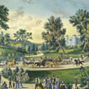 The Grand Drive, Central Park, New York, 1869 Art Print
