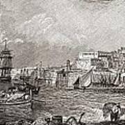 The Grand Harbour, Valetta, Malta After Art Print