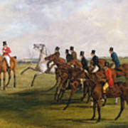 The Grand Leicestershire Steeplechase, March 12, 1829  The Start Art Print
