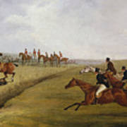 The Grand Leicestershire Steeplechase, March 12th, 1829 Art Print
