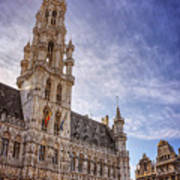 The Grandeur Of The Grand Place Brussels  Art Print