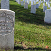 The Grave Of Martha B. Ellingsen In Arlington's Nurses Section Art Print