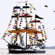 The Great Ship Gasparilla Art Print