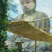 The Great Statue Of Amida Buddha At Kamakura Art Print