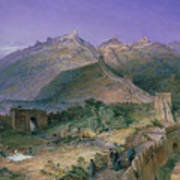 The Great Wall Of China Art Print by William Simpson