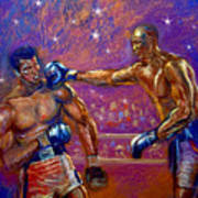 the Greatest  Muhammed Ali vs Jack Johnson Art Print