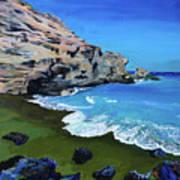The Green Beach The Big Island Hawaii Art Print