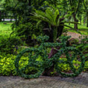 The Green Bicycle Art Print