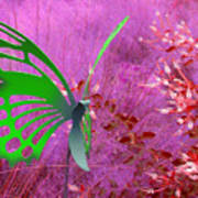 The Green Butterfly Art Print