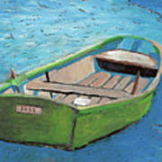 The Green Rowboat Art Print