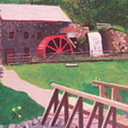 The Gristmill At Wayside Inn Print by William Demboski