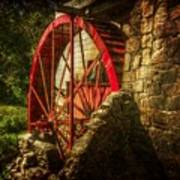The Gristmill's Waterwheel Art Print