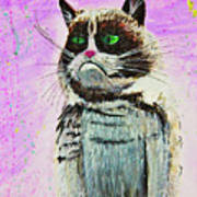 The Grumpy Cat From The Internets Art Print