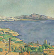 The Gulf Of Marseilles Seen From L'estaque Art Print