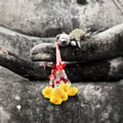 The Hand Of Buddha Art Print