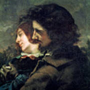 The Happy Lovers Art Print by Gustave Courbet