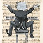 The Happy Pianist Art Print