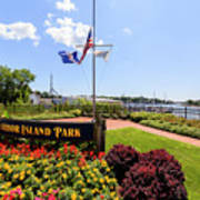 The Harbor Island Park In Mamarineck, Westchester County Art Print