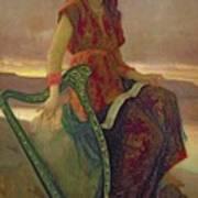 The Harpist Print by Antoine Auguste Ernest Herbert