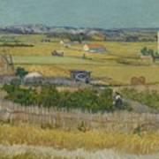 The Harvest Arles  June 1888 Vincent Van Gogh 1853  1890 Art Print