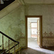 The Haunted Staircase - Abandoned Building Art Print