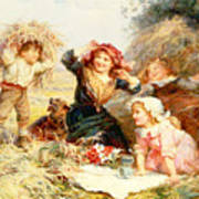 The Haymakers Art Print by Frederick Morgan