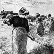 The Hayymaker Camille Pissarro Art Print