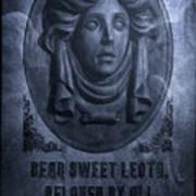 The Headstone Of Madame Leota Art Print