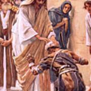 The Healing Of The Leper Art Print