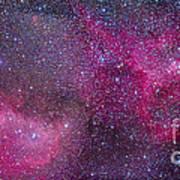 The Heart And Soul Nebulae Art Print