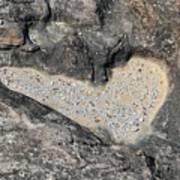 The Heart In Stone Art Print