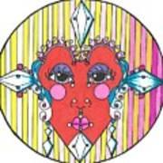 The Heart Queen Art Print