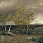The Heath In A Storm Art Print