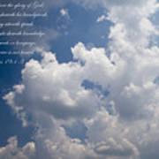 The Heavens Declare The Glory Of God Art Print