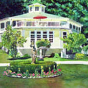 The Hexagon House, Bed And Breakfast, House Painting Art Print