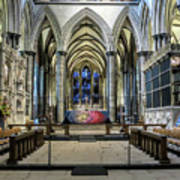 The High Altar In Salisbury Cathedral Art Print