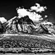 The High Andes Monochrome Art Print