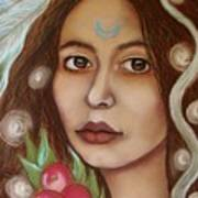 The High Priestess Art Print by Tammy Mae Moon