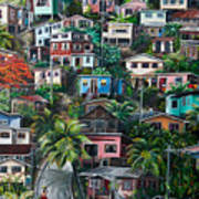 The Hill     Trinidad  Art Print by Karin  Dawn Kelshall- Best