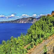 The Hills Of Crater Lake Oregon Art Print