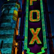 The Historic Fox Theatre Art Print by Kelly Rader