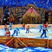 The Hockey Rink Art Print