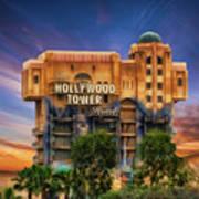 The Hollywood Tower Hotel Disneyland Art Print