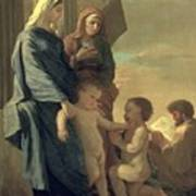 The Holy Family Art Print by Nicolas Poussin