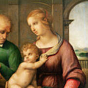 The Holy Family Art Print by Raphael